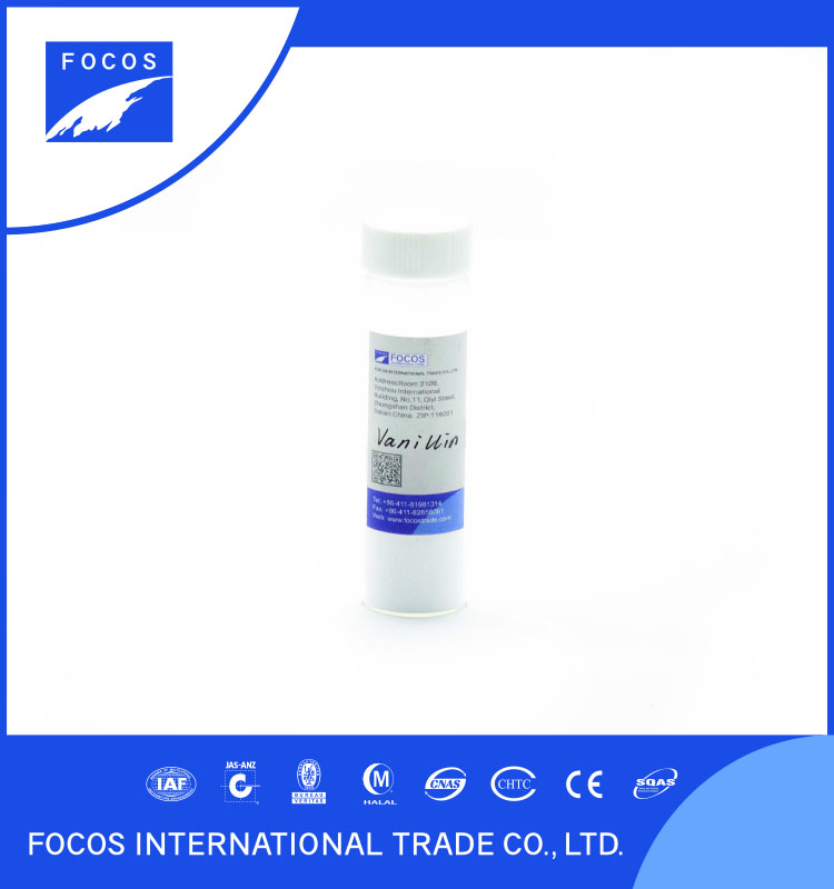 Chemicals for Cold drink making to add aroma FS-A0213 Vanillin FOCOS trade in 2016