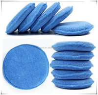 "Car washer Microfiber Wax Applicator Polishing Sponges pads 5"" Diameter Sponges Car &Motorcycles Accessories"