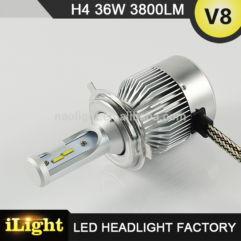 experienced manufacturer 38w car led headlight h4 9012 with DOT,E-mark,CE,ISO9001