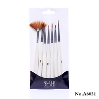 7 PCS NEW Nail art brush drawing painting pen set/A 6051