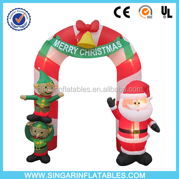 Hot sale shop christmas airblown inflatables holiday decoration arch
