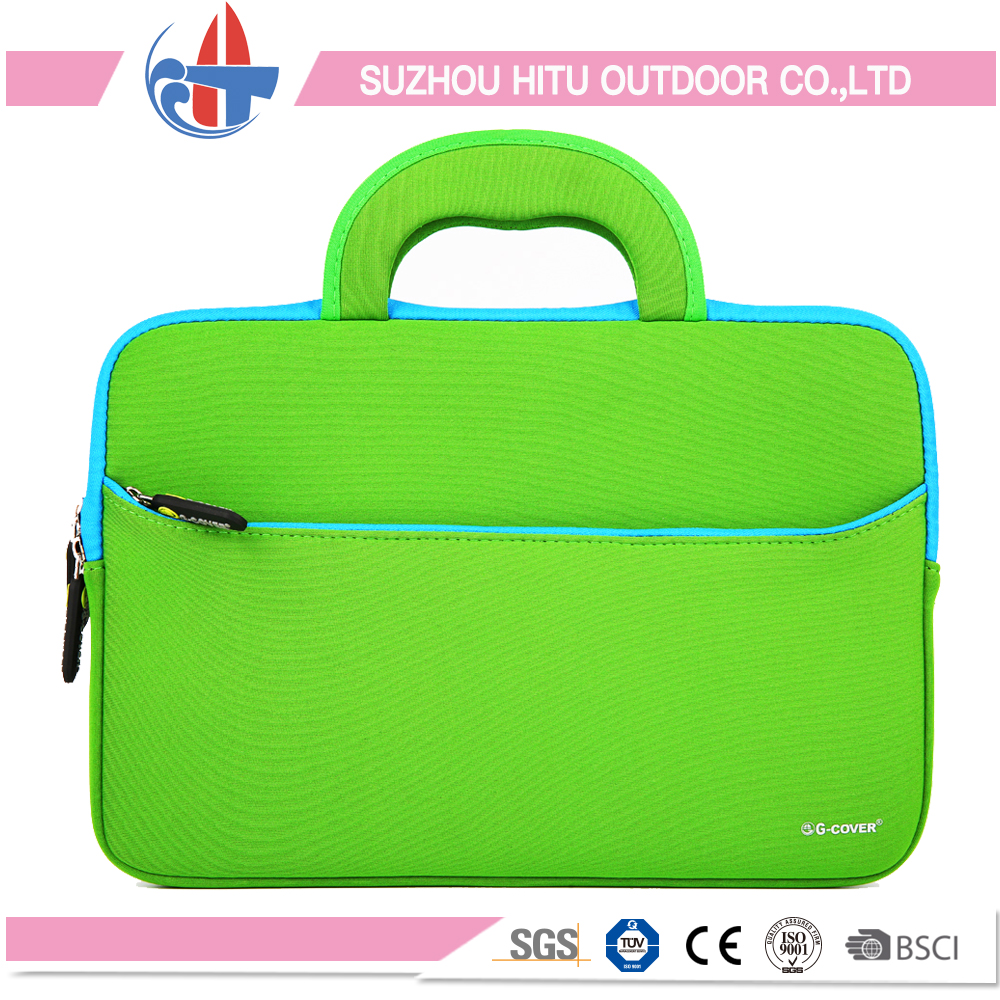Top quality neoprene laptop bag with handle whole sale
