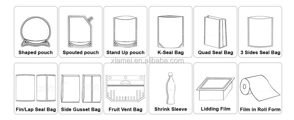small size high temperature retort pouch aluminum packaging bag