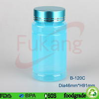 120ml aluminum Food Grade China Manufacture 120cc Light Blue PET Plastic Collagen Ampoule Bottle
