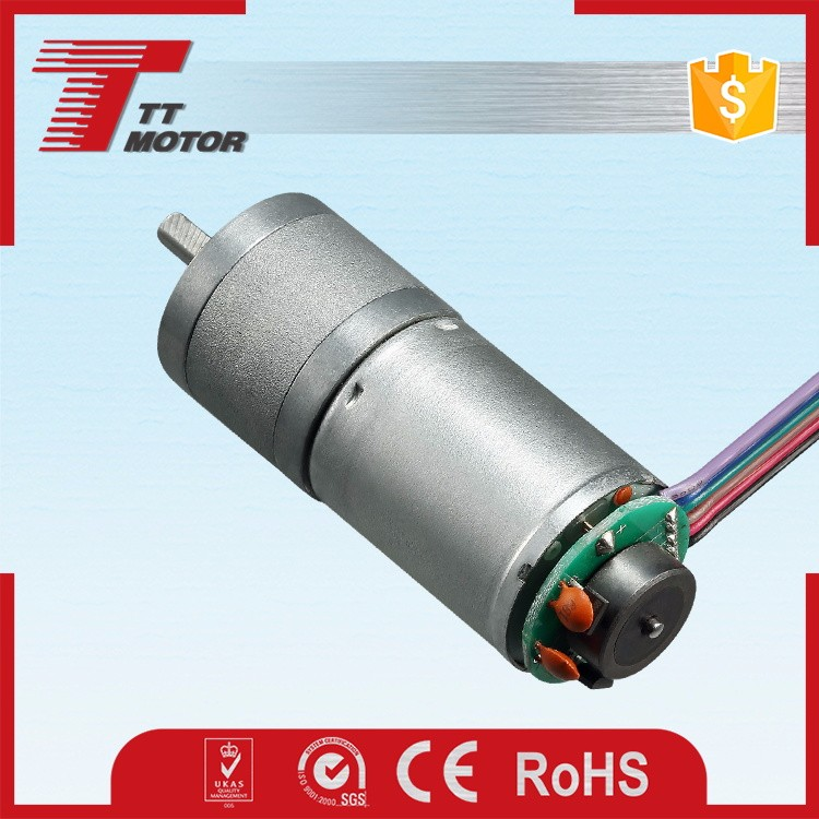 GM25-370CA 6v dc geared motor can match 11ppr encoder