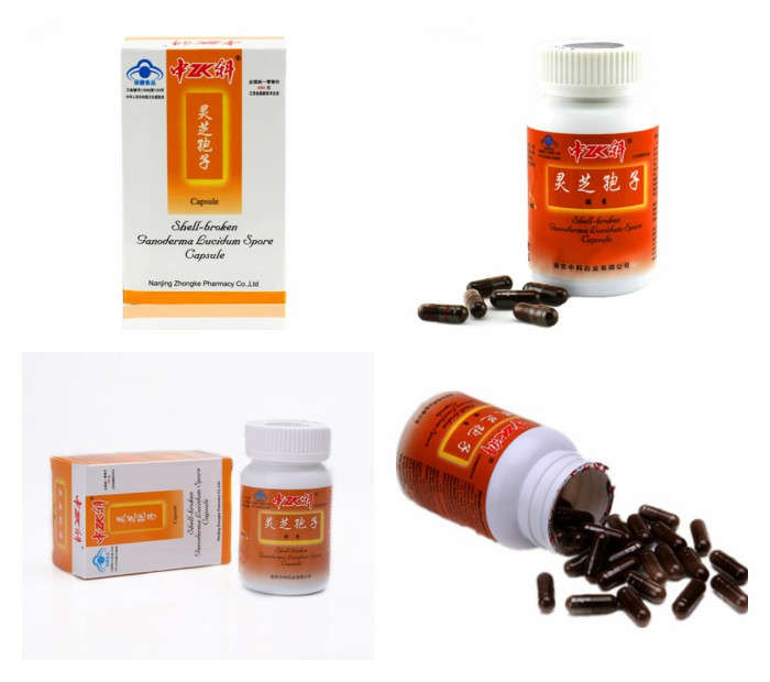 Ganoderma Lucidum shell-broken Spore capsule with immunity and cancer patients
