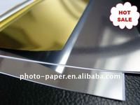 Self adhesive inkjet metallic film(SILVER-MATTE)/Gold&Sand&Silk finish all available/125um