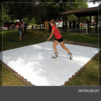 full size portable ice rink board/artificial ice skate floor/synthetic ice skating flooring