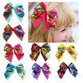 European and American fashion sequins Bowknot hairpin children's jewelry hot hair accessories