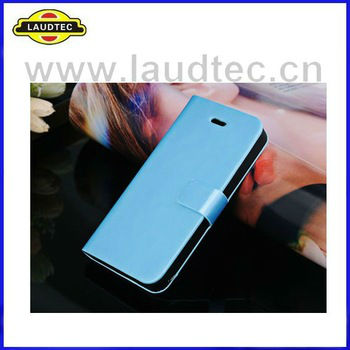 2013 Hot Selling Book Style Leather Flip Case For Golden iphone 5S,Leathe case with Stand Laudtec Wholesale