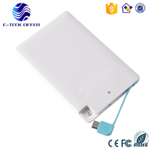 electronic products shenzhen 3000mah super slim credit card power bank