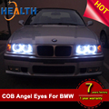3 Series w/ Non-HID Halogen Headlight COB E46 LED Halo Rings Kit Fit for BMW
