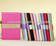 "Silk Pattern Flip PU Leather Wallet Case With Stand For Apple Ipad MINI 7""tablet case"