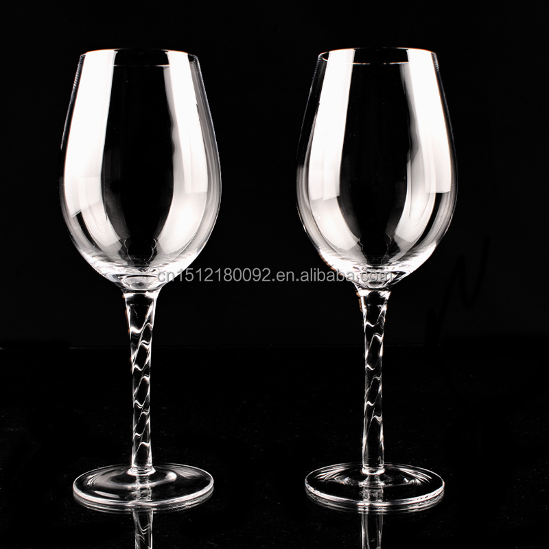 Aliisar new designed thread stem wine glass with nice price buy thread stem wine glass thick - Wine glasses with thick stems ...