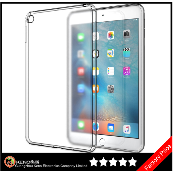 Keno For iPad Mini 4 China Manufacture Soft Clear Back TPU Case Cover