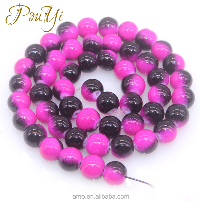 8mm color pearl new beads white stone painted round semi precious