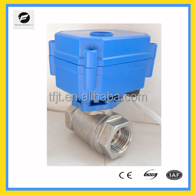 "<strong>1</strong>/2"" to <strong>1</strong>"" DC12V 2 way electric ball valve auto shuf-off valve for water leak detector for water treatment equipment"