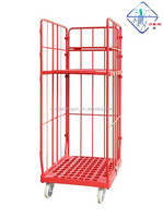 shop store warehouse supermarket transport pallet roll cage container mobile cell F-1 (3sids)