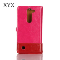 customised logo magnetic closure leather flip cover case for lg g4