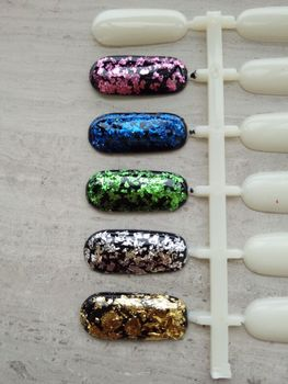 Nail Art Golden Foil Flakes ,Platinum Silver Flake Pigment,Rose ,Green, Blue Foil for nail