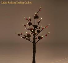Red Berry Pine Cone LED Tree Light Christmas Light Decorative Tree