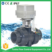 "2"" inch 2 way DN50mm 24v CR201 drawing electric motorized pvc ball valve"
