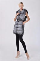 Real leather rabbit fur vest top quality from china