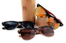 Eco-friendly 100% High Quality Handmade Cheap Custom Polarized Wooden Sunglasses LS2130-C1