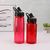 Cute 2018 flip straw drink bottle cup with straw 10 oz
