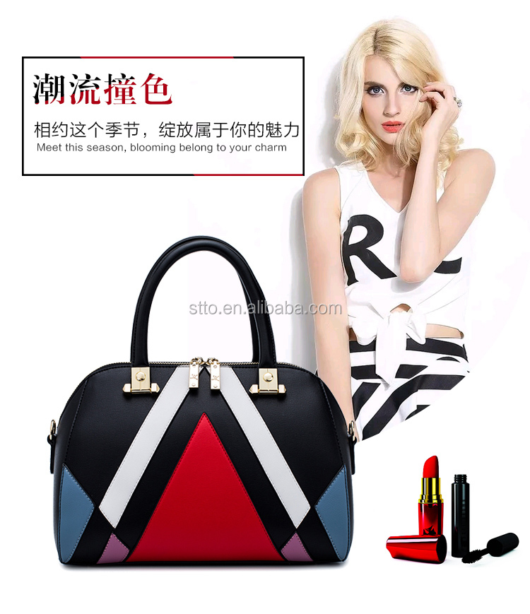 Girls PU handbag, office lady leather bag, leather office bags for women