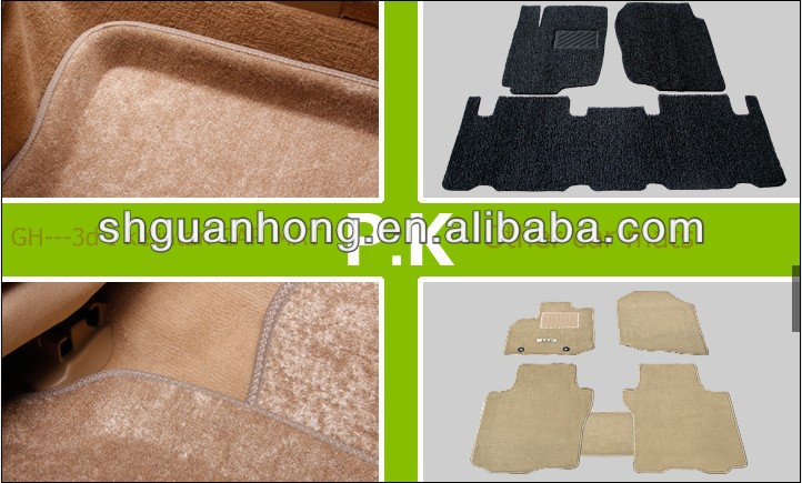 3D I&II seriescustomized High Temperature Assistant Kelin BlanketMaterial Beige car mats with Dotted Cloth