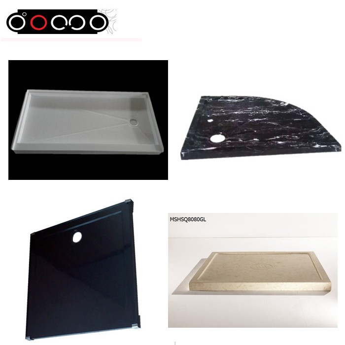 Domo Economical diamond shape acrylic shower tray