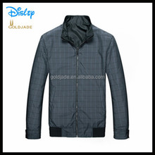 black gray blue check autumn winter thick heavy leather PU long sleeve POLO coat for man men jacket