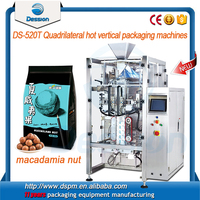 Semi-auto and automatic packaging machine for roasted nuts