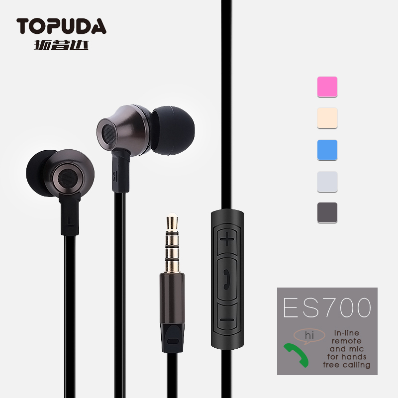 Hot sale ES700 earphone with volume control button in Alibaba in spanish