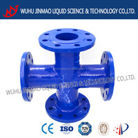 special-shaped cross ductile iron pipe fitting
