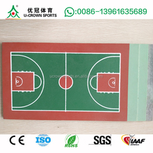 High quality multi layer in situ indoor outdoor china cheap basketball flooring