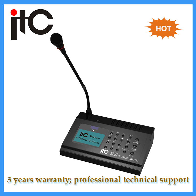 ITC T-6702 IP Network PA System Remote Paging Microphone for intercom