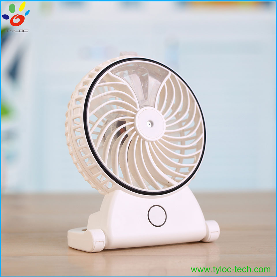 Mini usb rechargeable electric mist / fogger humidifier/ water spray fan