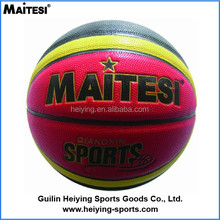 promotional cheap custom rubber training indoor and outdoor basketball