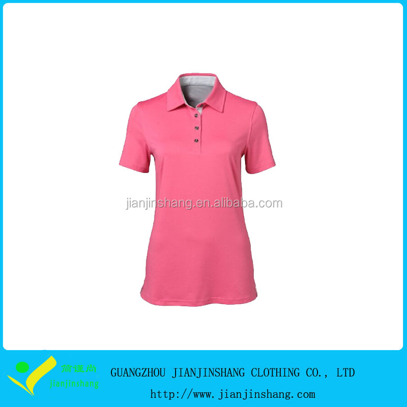 Amazing Pink Slim Fitted Dri Fit Moisture Wicking Ladies Golf Polo Shirts