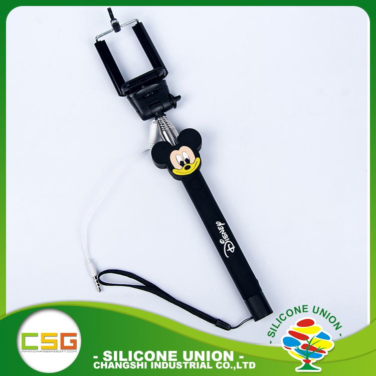 Wholesale cute cartoon single color automated selfie stick