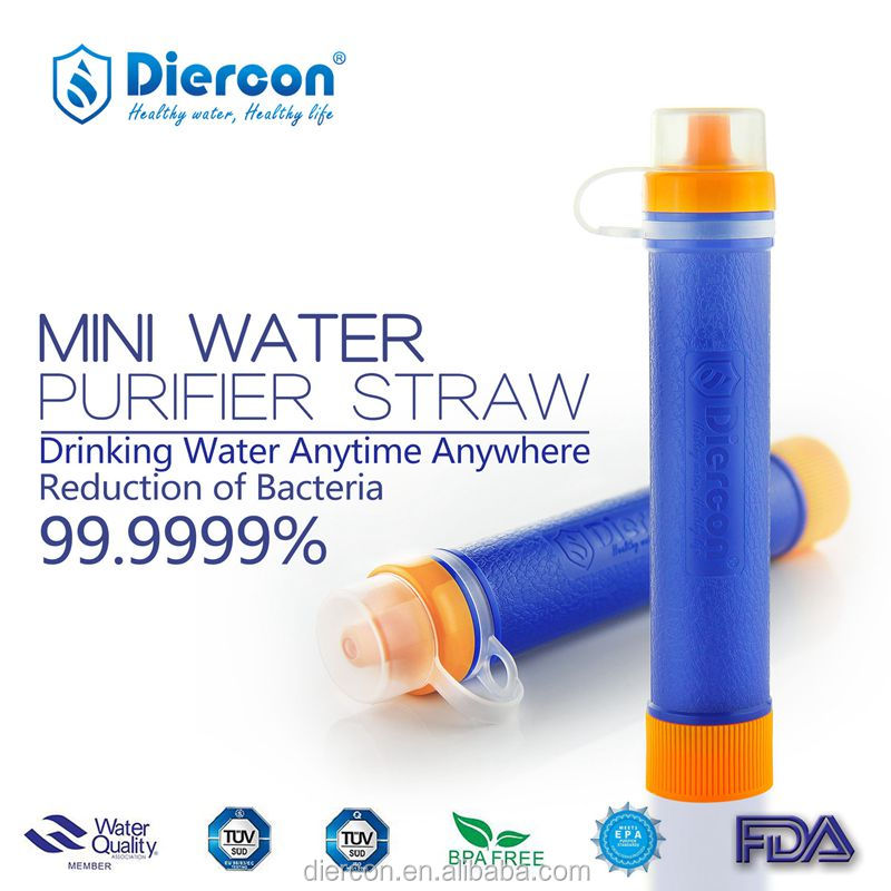Diercon Best Straw disaster emergency lifesaving kit small and light easy to carry and store personal water purifier straw(PS01)