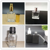 100Ml Clear Classic Square Fragrance Rectangle Perfume Glass Bottle