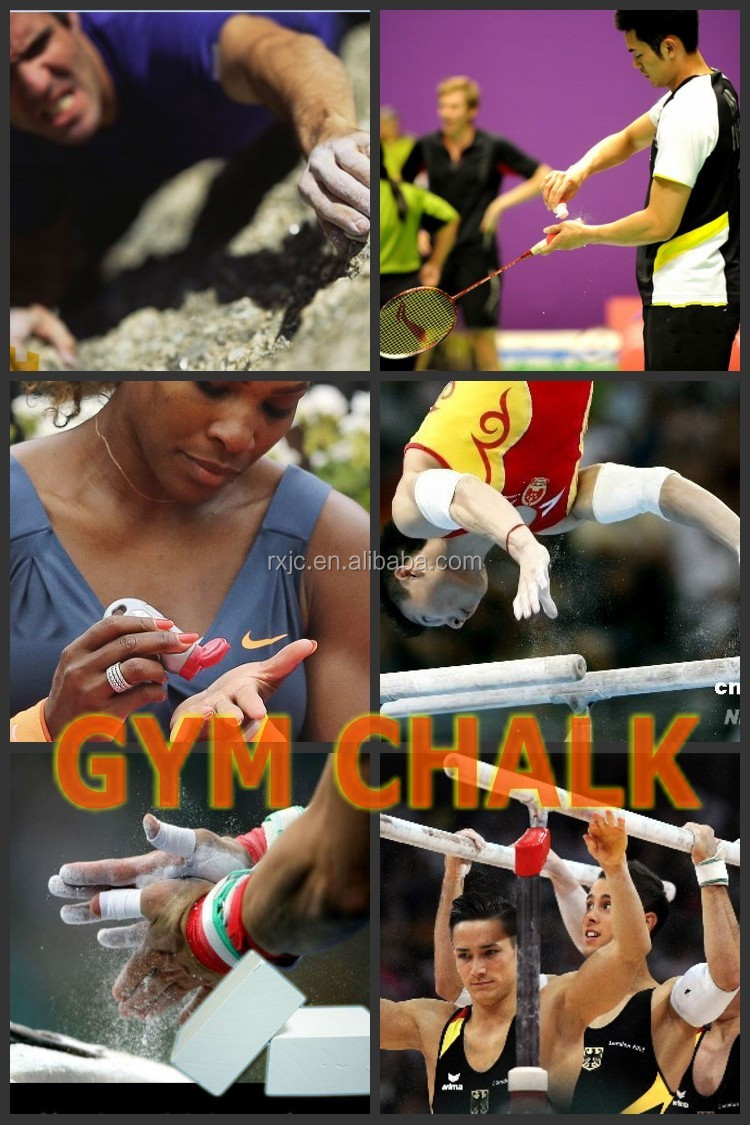 gym chalk weight lifting accessory for anti-slip