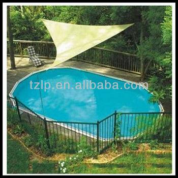 Pe Swimming Pool Roof Beige Sun Shade Triangle Sail Buy Shade Triangle Sail Swimming Pool