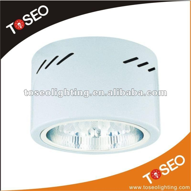 CFL surface mounted round 2x18w plc down light