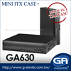GA630 - High Quality Small Slim Mini ITX Computer Case with 2 PCI Slot