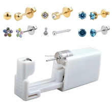 Surgical Steel Crystal Gem Ear Piercing Studex Earring Stud Jewelry for Gift