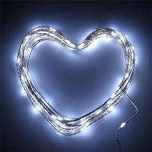 copper wire String Patio Lights 50ft 150 LED warm cold white Fairy light string Party battery operated rope lights led outdoor
